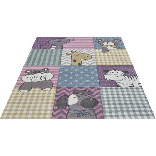 merinos Kinderteppich Pastel Kids 21906, rechteckig, 13 mm Höhe, lustige Tiere Motive B/L: 160 cm x 230 cm, 1 St. bunt Kinder Bunte Kinderteppiche Teppiche