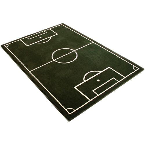HANSE Home Kinderteppich Fussballplatz, rechteckig, 9 mm Höhe, Fußball, Spielteppich B/L: 190 cm x 280 cm, 1 St. grün Kinder Bunte Kinderteppiche Teppiche
