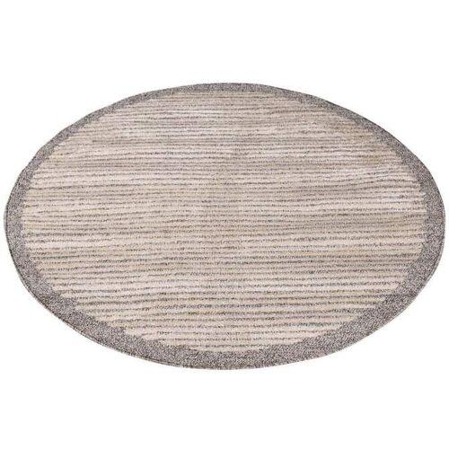 Carpet City Teppich Art 2231, rund, 7 mm Höhe Ø 160 cm, 1 St. braun Esszimmerteppiche Teppiche nach Räumen