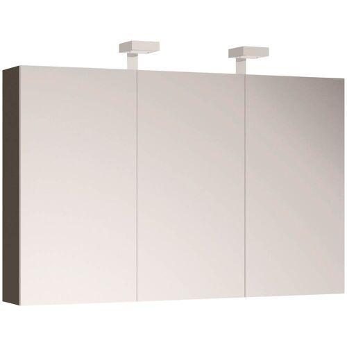 Allibert Spiegelschrank, mit LED-Beleuchtung B/H/T: 120 cm x 70 18 cm, 3 grau Spiegelschrank Spiegelschränke Badmöbel Bad Sanitär