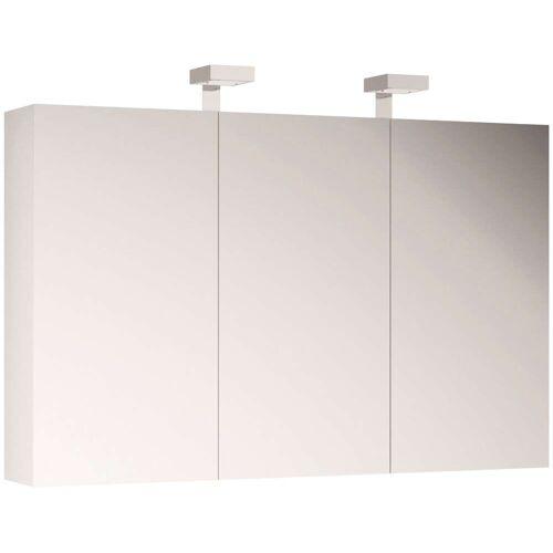 Allibert Spiegelschrank, mit LED-Beleuchtung B/H/T: 120 cm x 70 18 cm, 3 weiß Spiegelschrank Spiegelschränke Badmöbel Bad Sanitär