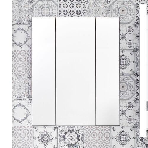 trendteam Spiegelschrank Tone, 3-Türig B/H/T: 60 cm x 71 18 cm, 3 grau Spiegelschränke Badmöbel Bad Sanitär