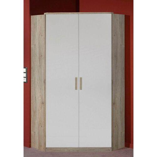 Eckschrank Bergamo B/H/T: 95 cm x 198 cm, 2 braun Eckschränke Kleiderschränke Schränke