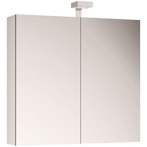 Allibert Spiegelschrank, LED-Beleuchtung B/H/T: 80 cm x 70 18 cm, 2 weiß Spiegelschrank Spiegelschränke Badmöbel Bad Sanitär