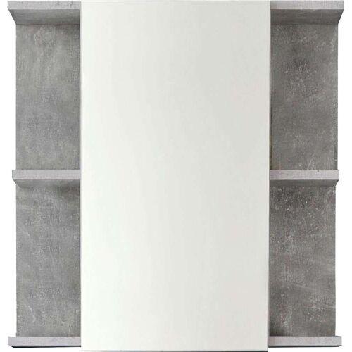 trendteam Spiegelschrank Nano B/H/T: 60 cm x 20 62 grau Spiegelschränke Badmöbel Bad Sanitär