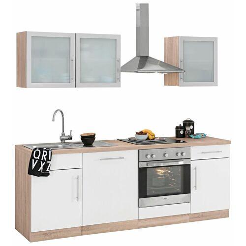 wiho Küchen Küchenzeile Aachen, ohne E-Geräte, Breite 220 cm B: weiß Küchenserien Küchenmöbel Küche Ordnung