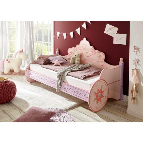 Begabino Kinderbett, für kleine Prinzessinnen Liegefläche B/L: 90 cm x 200 Betthöhe: 37 cm, kein Härtegrad, ohne Matratze rosa Kinder Kinderbett Kinderbetten Kindermöbel