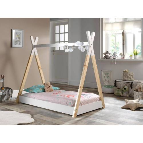 Vipack Kinderbett Tipi, mit Lattenrost Liegefläche B/L: 70 cm x 140 Betthöhe: 12 cm, kein Härtegrad, ohne Matratze weiß Kinder Kinderbetten Kindermöbel