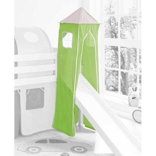 Ticaa Bettturm B/H/L: 45 cm x 190 grün Kinder Kinderbetten Kindermöbel