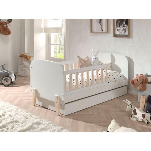 Vipack Kinderbett Kiddy, wahlweise mit Bettschubkasten Mit Bettschubkasten, Liegefläche B/L: 70 cm x 140 Betthöhe: 10 cm, kein Härtegrad, ohne Matratze weiß Kinder Kinderbetten Kindermöbel