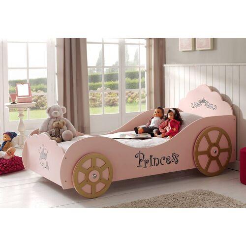 Vipack Kinderbett, mit Lattenrost Liegefläche B/L: 90 cm x 200 Betthöhe: 80 cm, kein Härtegrad, ohne Matratze rosa Kinder Kinderbett Kinderbetten Kindermöbel
