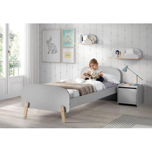 Vipack Kinderbett Kiddy Liegefläche B/L: 90 cm x 200 Betthöhe: 35 cm, kein Härtegrad, ohne Matratze grau Kinder Kinderbetten Kindermöbel
