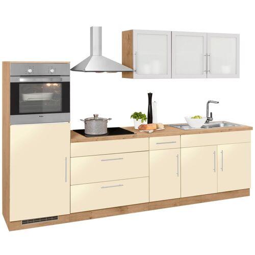 wiho Küchen Küchenzeile Aachen, ohne E-Geräte, Breite 290 cm B: gelb Küchenserien Küchenmöbel Küche Ordnung