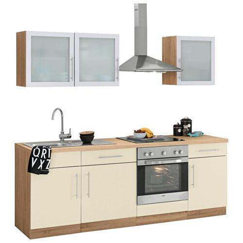 wiho Küchen Küchenzeile Aachen, ohne E-Geräte, Breite 220 cm B: gelb Küchenserien Küchenmöbel Küche Ordnung