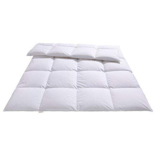 OTTO products Daunenbettdecke Charleen, warm, (1 St.) B/L: 200 cm x 220 cm, warm weiß Allergiker Bettdecke Bettdecken Bettdecken, Kopfkissen Unterbetten
