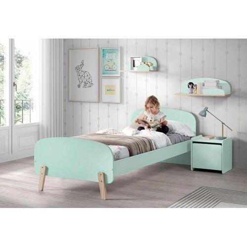 Vipack Kinderbett Kiddy Liegefläche B/L: 90 cm x 200 Betthöhe: 35 cm, kein Härtegrad, ohne Matratze grün Kinder Kinderbetten Kindermöbel