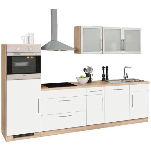 wiho Küchen Küchenzeile Aachen, ohne E-Geräte, Breite 300 cm B: weiß Küchenserien Küchenmöbel Küche Ordnung