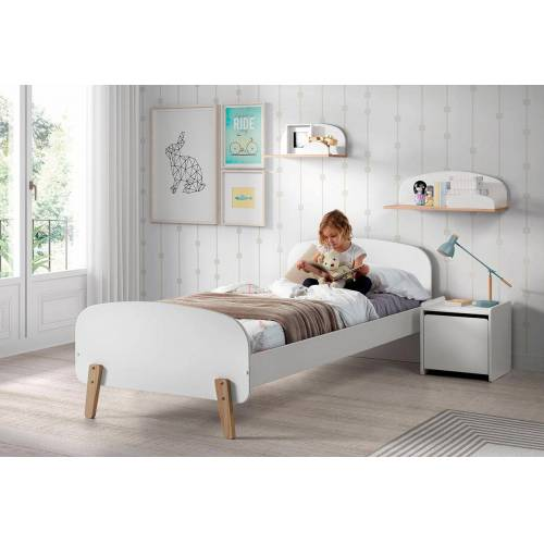 Vipack Kinderbett Kiddy Liegefläche B/L: 90 cm x 200 Betthöhe: 35 cm, kein Härtegrad, ohne Matratze weiß Kinder Kinderbetten Kindermöbel
