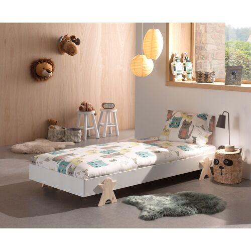 Vipack Einzelbett Modulo, Stapelbett mit Füßen in Smileoptik 1 Einzel-/Stapelbett, Liegefläche B/L: 90 cm x 200 Betthöhe: 16 cm, kein Härtegrad, ohne Matratze weiß Kinder Kinderbetten Kindermöbel
