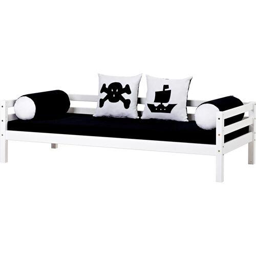Hoppekids Piratenbett Pirat, inkl. Matratze und Rollrost Liegefläche B/L: 90 cm x 200 cm, kein Härtegrad schwarz-weiß Kinder Kinderbetten Kindermöbel