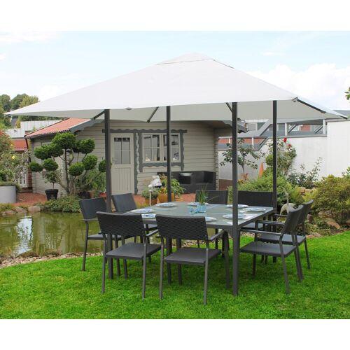 Leco Pavillon, BxT: 300x300 cm B/H/T: 300 x 250 grau Pavillon Pavillons Garten Balkon