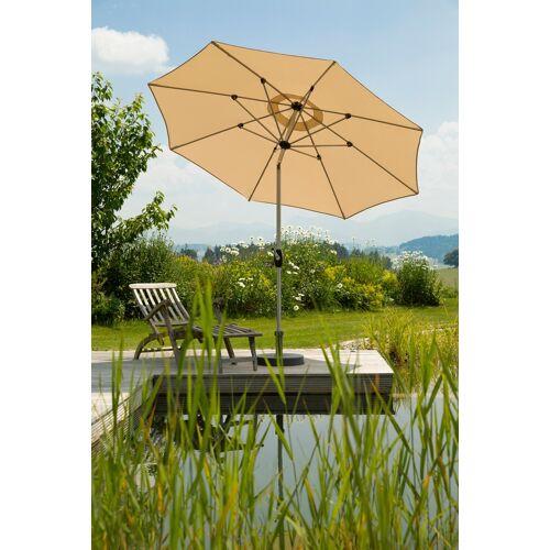 Schneider Schirme Sonnenschirm Venedig, ohne Schirmständer Einheitsgröße beige Sonnenschirme -segel Gartenmöbel Gartendeko