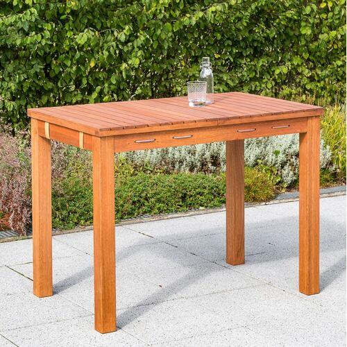 MERXX Gartentisch, 60x100 cm B/H/T: 60 x 75 100 beige Gartentisch Gartentische Gartenmöbel Gartendeko