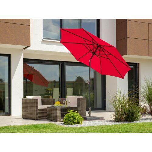 Schneider Schirme Sonnenschirm Harlem, ohne Schirmständer Einheitsgröße rot Sonnenschirme -segel Gartenmöbel Gartendeko