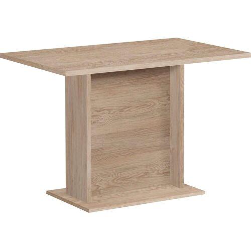 FMD Säulen-Esstisch, Breite 110 cm B/H/T: x 77,5 70 braun Säulen-Esstisch Säulentische Esstische Tische