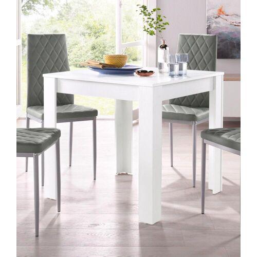 my home Esstisch Lynn, Breite 80 cm B/H/T: x 75 weiß Esstische quadratisch Tische