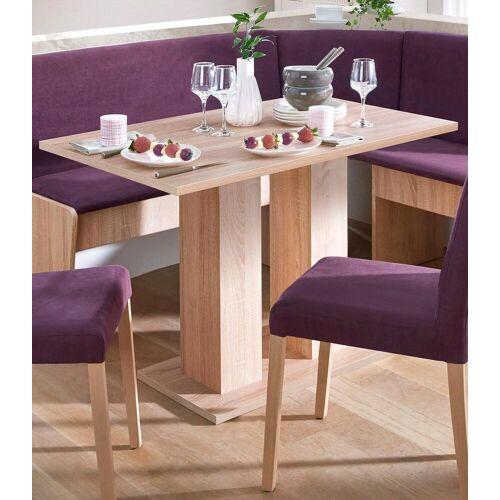 my home Säulen-Esstisch, Breite 68 oder 110 cm B/H/T: x 75 braun Säulen-Esstisch Säulentische Esstische Tische