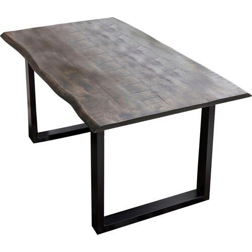 SIT Esstisch, mit Baumkante wie gewachsen B/H/T: 160 cm x 78 85 grau Esstisch Holz-Esstische Holztische Tische