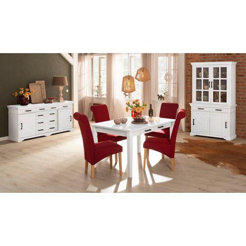 Home affaire Esstisch Anabel, aus massiver Kiefer B/H/T: 140 cm x 75 90 weiß Holz-Esstische Holztische Tische