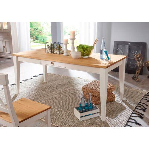 Premium collection by Home affaire Esstisch Marissa, Landhaus-Design pur B/H/T: 180 cm x 80 90 weiß Holz-Esstische Holztische Tische