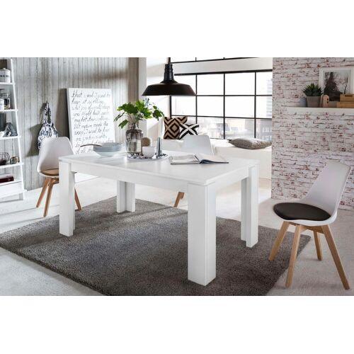 trendteam Esstisch, Länge 160-200cm B/H/T: 160 cm x 77 90 weiß Esstisch Ausziehbare Esstische Tische