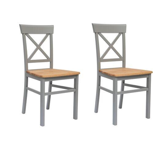 andas Holzstuhl Tatra, im 2er, 4er oder 6er-Set B/H/T: 40,5 cm x 93 50 cm, 2 St., 2er Set grau 4-Fuß-Stühle Stühle Sitzbänke