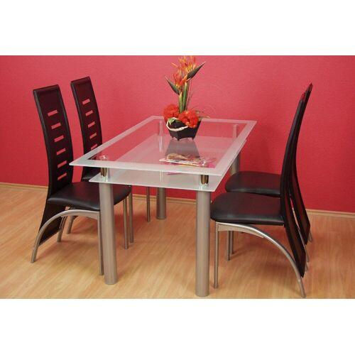 Esstisch B/H/T: 140 cm x 75 80 silberfarben Esstische rechteckig Tische