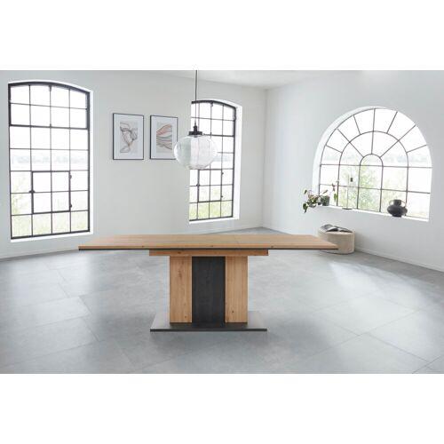 HELA Esstisch Atlanta T, Ausziehbar von Breite 160-210 cm H: 75 braun Ausziehbare Esstische Tische