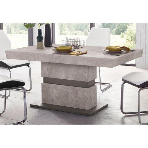Homexperts Säulen-Esstisch Marley, Breite 140 oder 160 cm B/H/T: x 75 90 grau Esstische rechteckig Tische