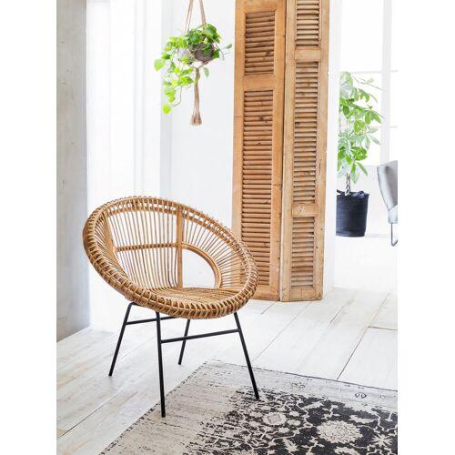 SIT Rattanstuhl, Rattan Vintage, Shabby Chic, Vintage B/H/T: 80 cm x 86 71 beige Rattanstuhl Rattanstühle Stühle Sitzbänke