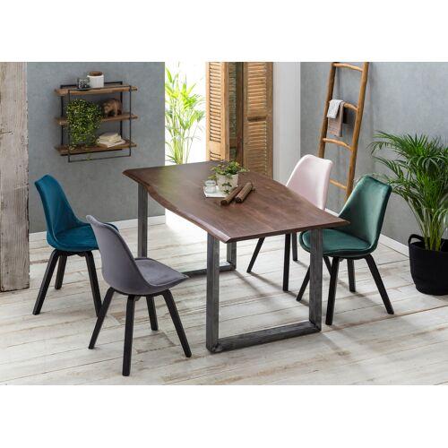 SIT Esstisch, mit Baumkante wie gewachsen B/H/T: 160 cm x 77 85 beige Esstisch Holz-Esstische Holztische Tische