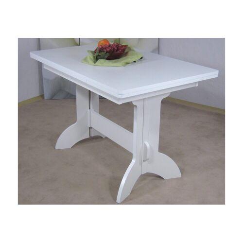 Esstisch Toledo, ausziehbar auf 170 cm B/H/T: 110 x 75 70 cm, mit Auszug weiß Ausziehbare Esstische Tische