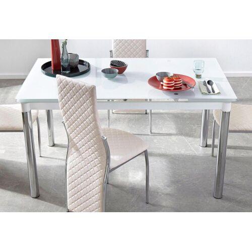 my home Esstisch B/H/T: 140 cm x 76 80 cm, Kulissenauszug weiß Ausziehbare Esstische Tische