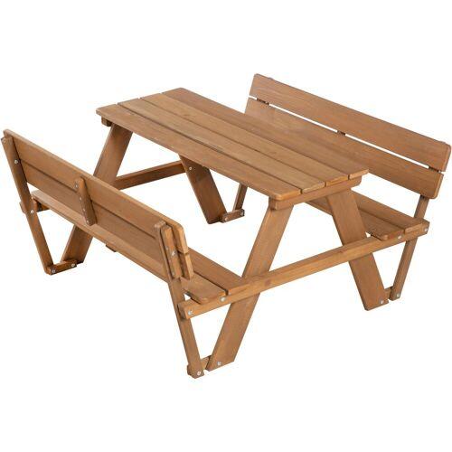 roba Kindersitzgruppe Picknick for 4 Outdoor Deluxe, Teakholz, (Set, 1 tlg.), mit Lehne B/H/T: 89 cm x 51 107 braun Kinder Kinderstühle Kindermöbel