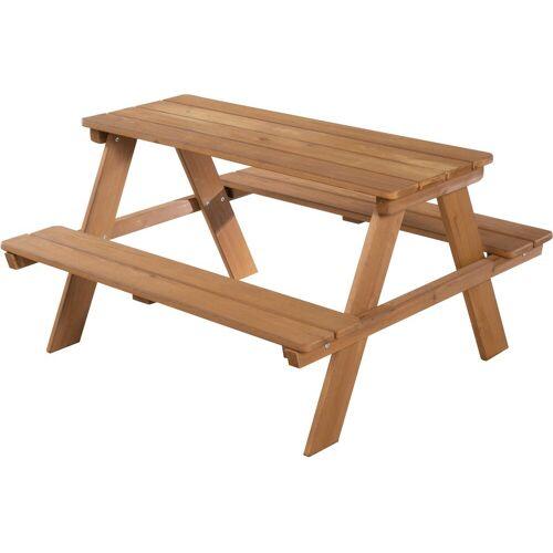 roba Kindersitzgruppe Picknick for 4 Outdoor Deluxe, Teakholz, (Set, 1 tlg.), mit abgerundeten Ecken B/H/T: 89 cm x 50 85 braun Kinder Kinderstühle Kindermöbel