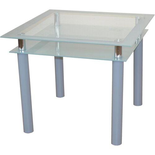 Esstisch TOM, Breite 90 cm B/H/T: x 75 silberfarben Esstische quadratisch Tische