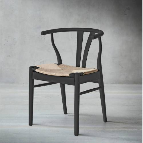 hammel Holzstuhl Findahl 2 St. schwarz Holzstühle Stühle Sitzbänke