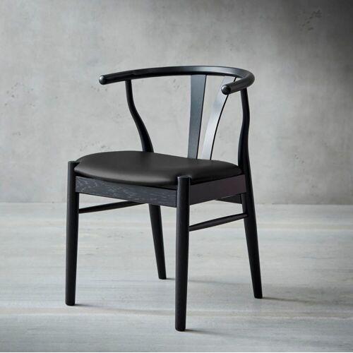 hammel Holzstuhl Findahl 2 St., Leder schwarz Holzstühle Stühle Sitzbänke