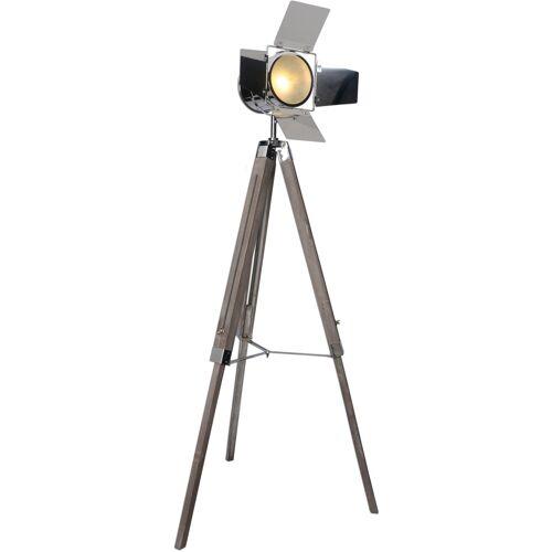 näve Stehlampe, E27 1 flg., Ø 44 cm Höhe: 100 braun Stehlampe Standleuchten Stehleuchten Lampen Leuchten