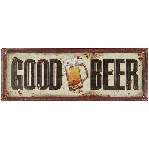 Ambiente Haus Metallbild Good Beer Bild 36cm, (1 St.) B/H/T: 36 cm x 13 1 bunt Metallbilder Bilder Bilderrahmen Wohnaccessoires